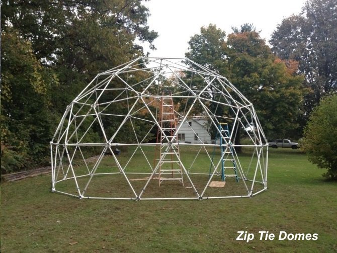 25 Geodesic Dome Greenhouse Kit For Sale 25 3v 5 8