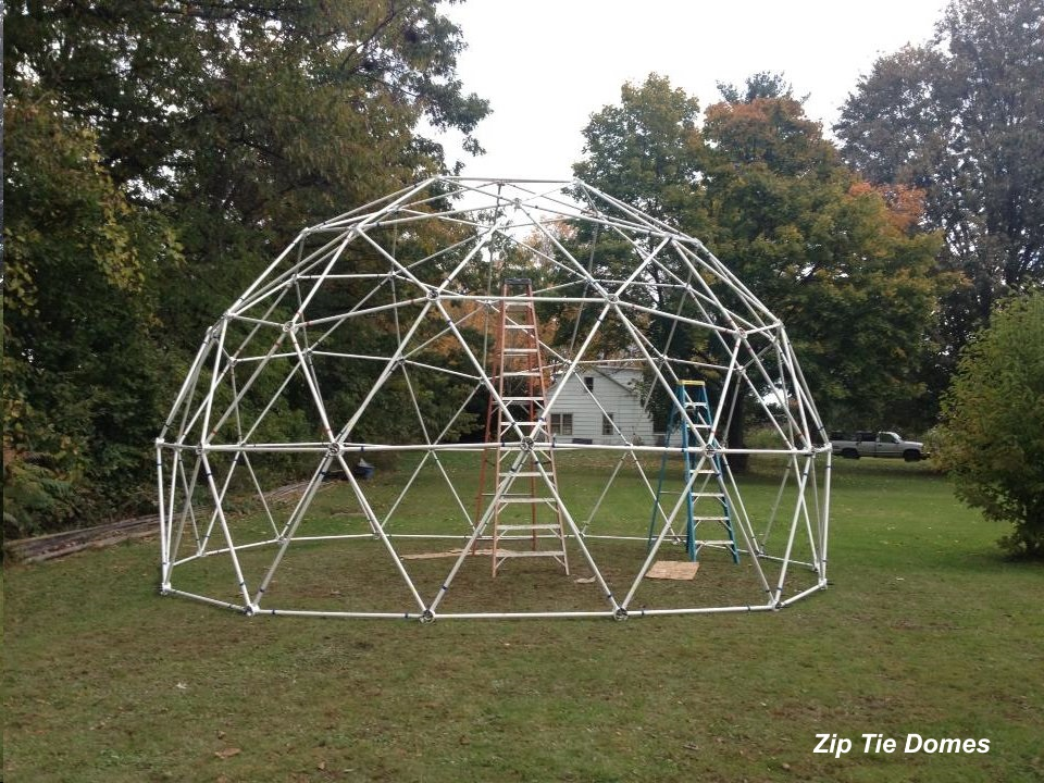 25 3v 5 8 Standard Geodesic Dome Greenhouse Kit For Sale