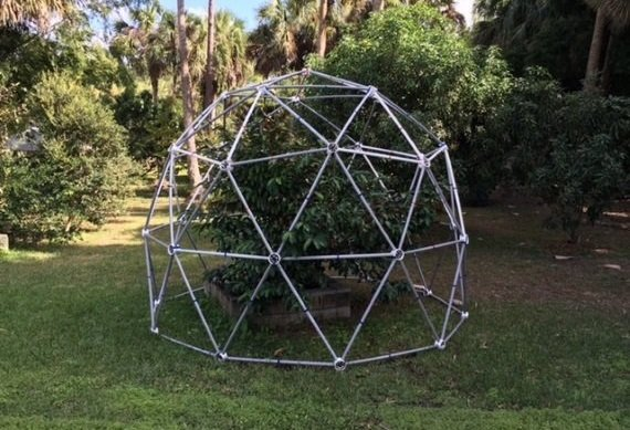 10' 2v Silo Dome Greenhouse