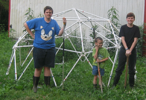 10' 2v Geodesic Greenhouse