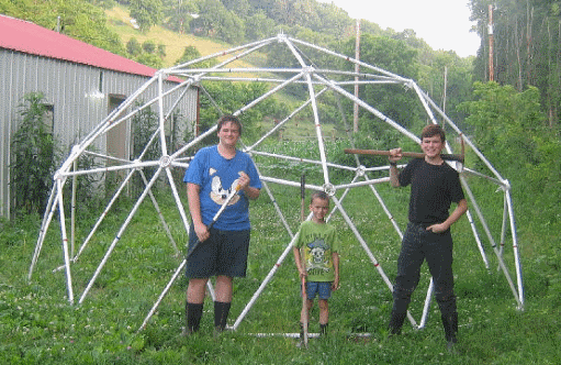 16' 2v Geodesic Greenhouse