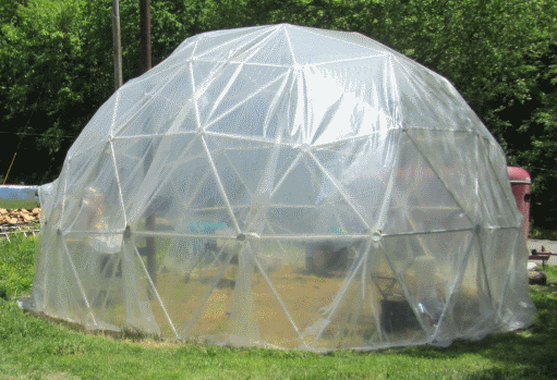 25' 3v 5/8 Geodesic Greenhouse