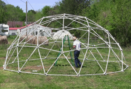 25' 3v 3/8 Geodesic Greenhouse