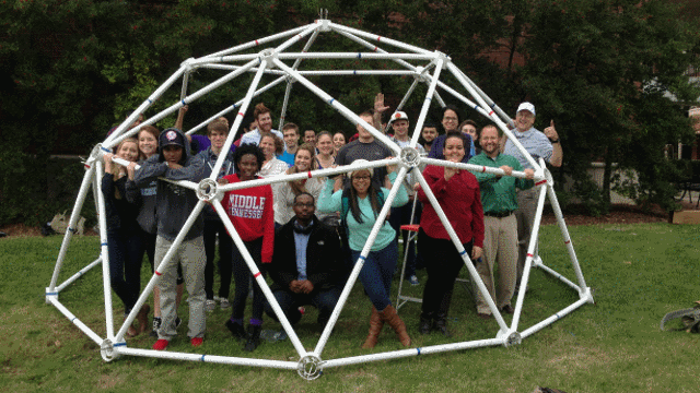 17' Wide, 8.5' Tall, 2v Geodesic Shelter Dome