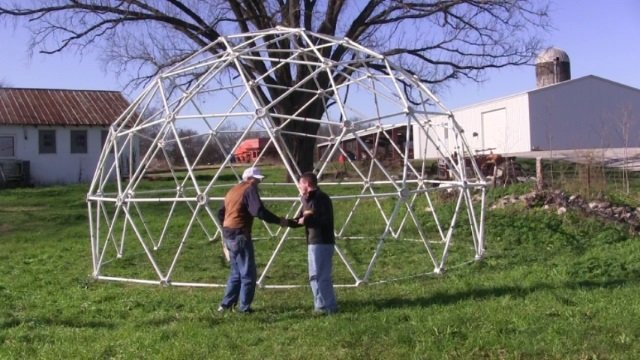 25' wide, 15' Tall 3v Geodesic Shelter Dome